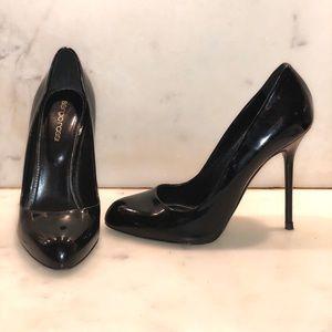 Sergio Rossi ChiChi Black Patent Leather Pumps